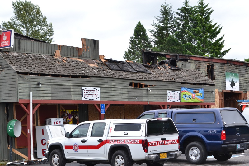 Three-alarm fire razes Bailey's Pub and Grub