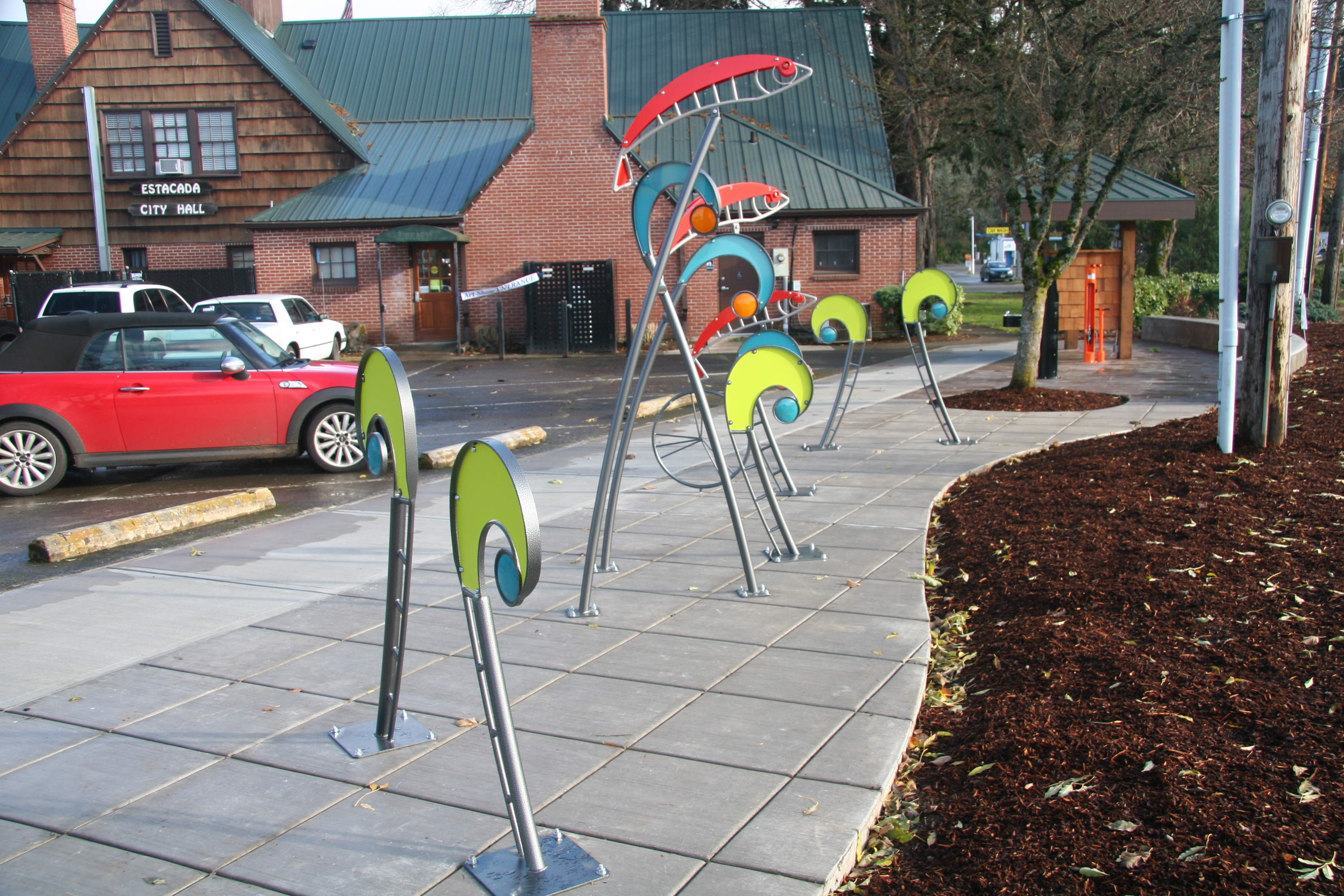 Estacada Cycling Station is near complete!